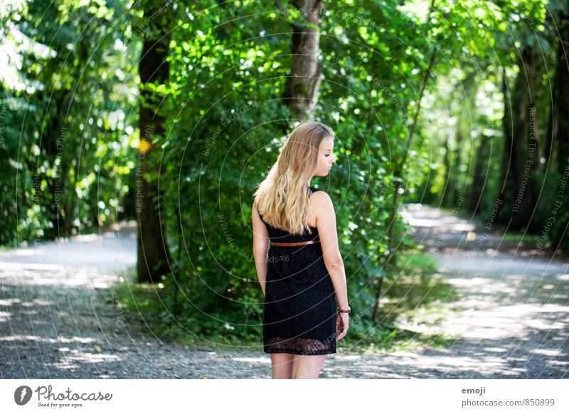 <> Feminine Young woman Youth (Young adults) 1 Human being 18 - 30 years Adults Environment Nature Landscape Summer Beautiful weather Forest Natural Green