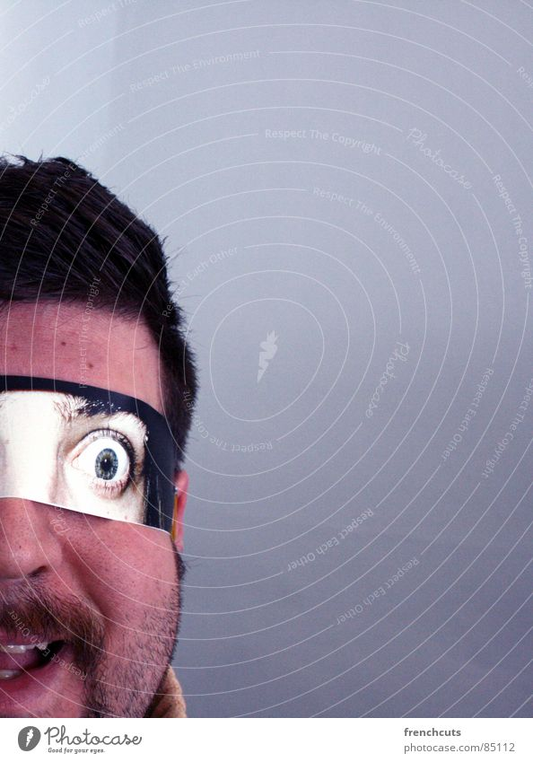 Man Eyes Head Fear Mask Mirror Mysterious Frightening Flirt Marvel Activate Saucer-eyed