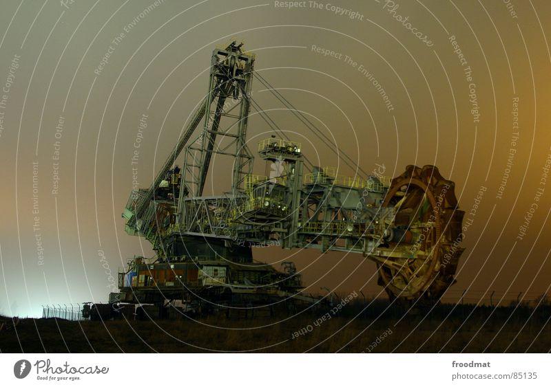 Dark Metal Large Industry Might Steel Excavator Monster Mining Colossus Shovel Gigantic Flashlight