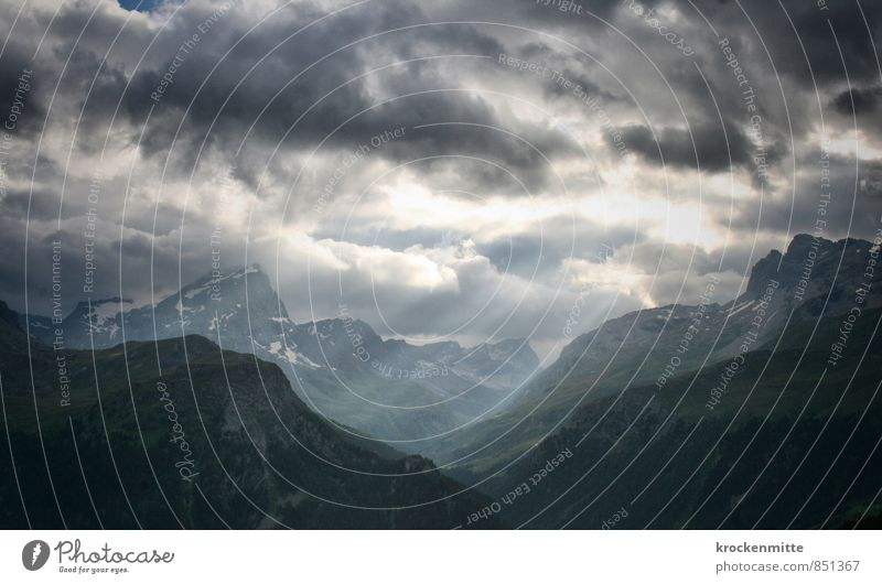 flood of light Mountain Hiking Environment Nature Landscape Elements Sky Clouds Storm clouds Horizon Sun Climate Bad weather Wind Gale Thunder and lightning
