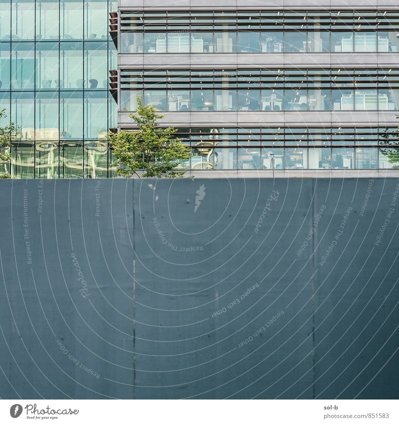 ofis City Tree Window Wall (building) Architecture Wall (barrier) Building Work and employment Facade Business Action Office Contentment Esthetic Fence Gate