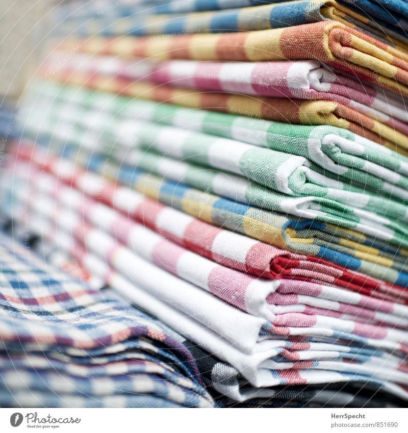Fresh Retro Tilt Many Cloth Sharp-edged Checkered Markets Stack Marketplace Sell Selection Supply Goods Istanbul Offer