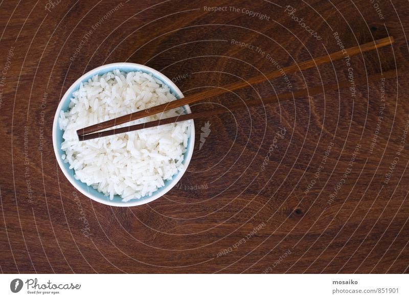 rice and chopsticks Vegetable Nutrition Eating Lunch Dinner Plate Bowl Design Culture Long Natural Brown Black White Rice Cereal Steamed Meal Ingredients Dish