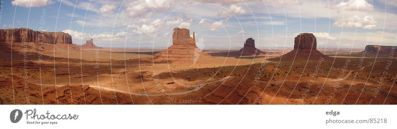 Mountain Large USA Desert Panorama (Format) National Park Monument Valley