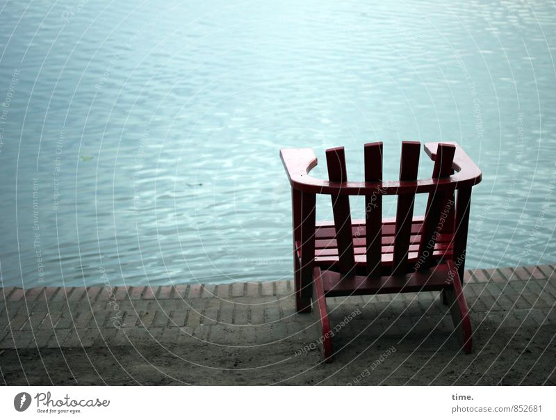 Vacation & Travel Water Relaxation Calm Wood Swimming & Bathing Stone Moody Park Waves Contentment Break Lakeside Chair Furniture Well-being