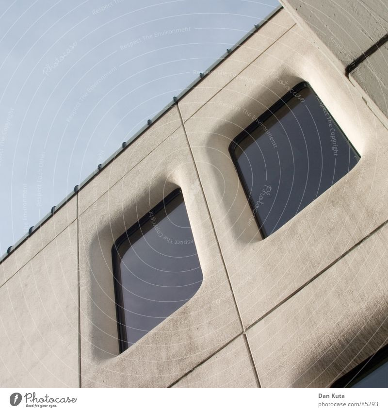 Beautiful Window Dirty Concrete Crazy Modern Round Roof To fall Cleaning Diagonal Chic Classification Seventies Seam