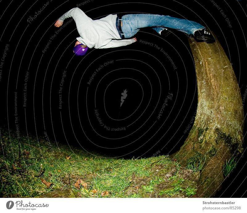 Tree Sports Crazy Running Speed Dress Soul Acrobatics Fisheye Extreme sports Back somersault
