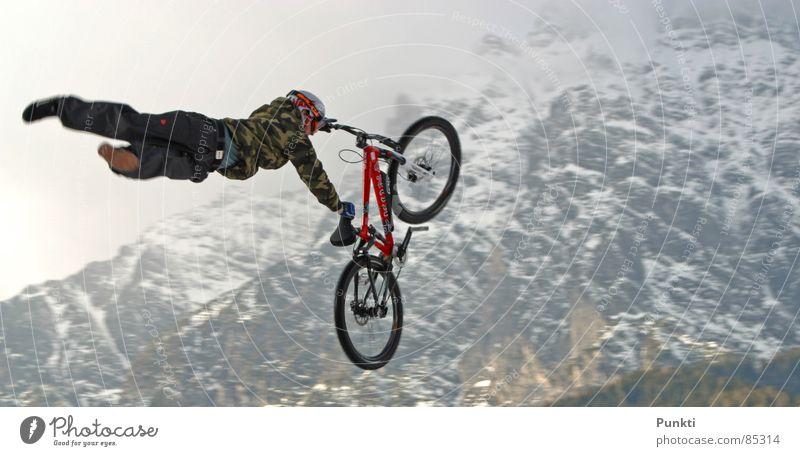 Sports Snow Playing Mountain Flying Hero Superman Mountain bike
