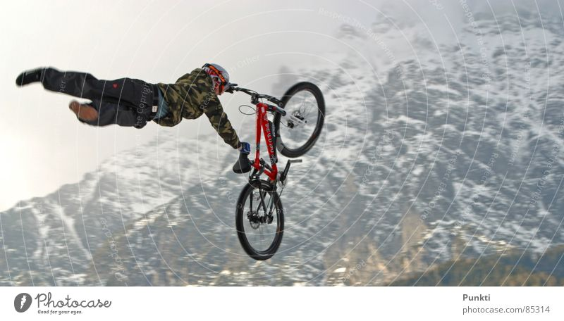 superman Superman Mountain bike Sports Playing airtime dirt Flying freeride Snow