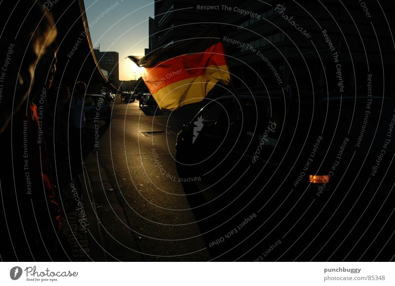 Summer Sun Joy Happy Germany Car Flag Euphoria Applause Hannover World Cup Ball sports 2006 Sporting event Elation Title bout