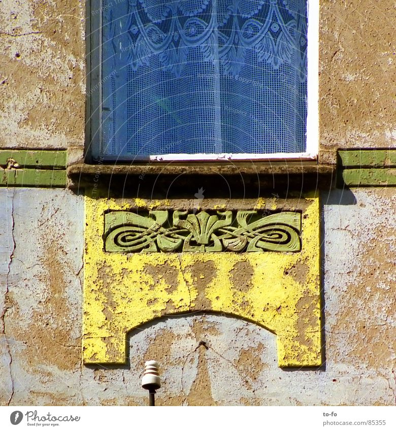 true to the original style Window Facade Ornament Curtain House (Residential Structure) Pattern Art nouveau Spring cleaning Redevelop Detail Art deco