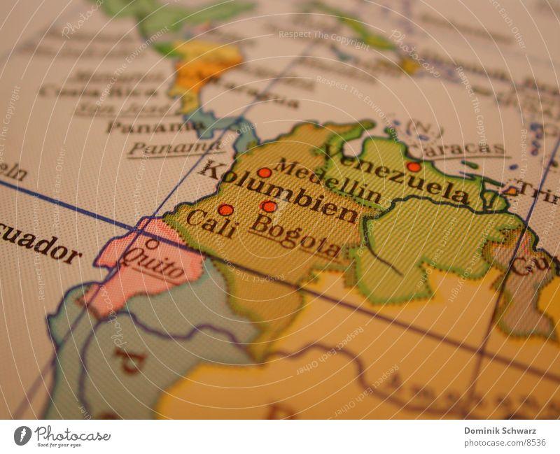 Map Leisure and hobbies South America Venezuela Atlas Colombia Panama Bogotá