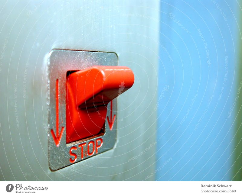 Red Stop Things Elevator Buttons Switch Kill Emergency Quit Lever
