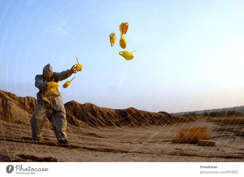 Red Joy Yellow Jump Gray Art Dirty Funny Flying Crazy Mask Suit Stupid Surrealism Throw Planet