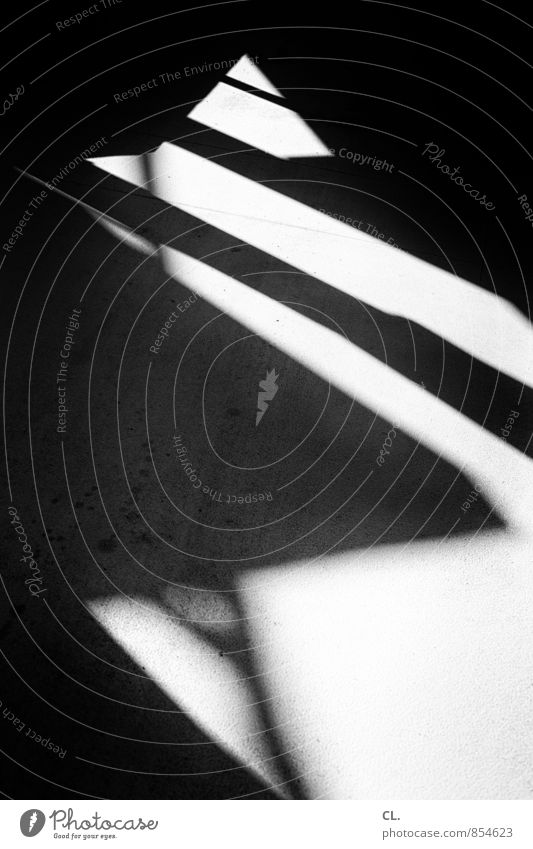 zigzag Lanes & trails Dark Sharp-edged Complex Target Zigzag Shadow play Visual spectacle Shaft of light Line Black & white photo Abstract Pattern Deserted Day