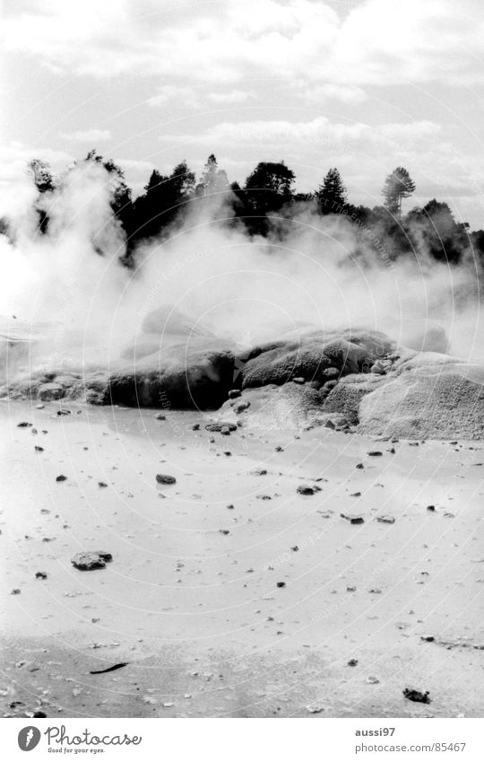 Stone Fog Earth Ground Floor covering Mystic Go up Magic Source Vail New Zealand Minerals Sulphur Shroud of fog Hot springs