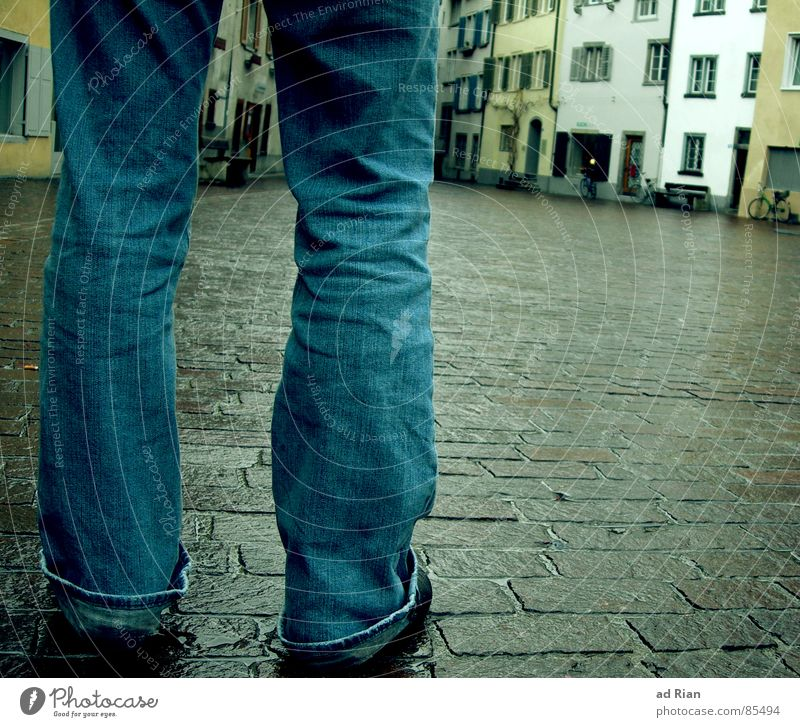 i'm still standing House (Residential Structure) Legs Rain Traffic infrastructure Street Lanes & trails Jeans Footwear Going Stand Sadness Cold Wet Loneliness