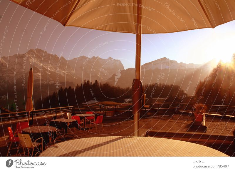 "<font color=""#ffff00"">-==- proudly presents Sunshade Table Hotel Winter Gastronomy Guesthouse terrace Mountain Retirement"