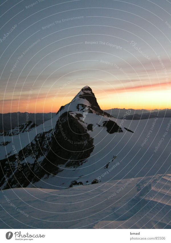 Morning mood Wiesbachhorn Hohen Tauern NP Winter Mountaineering wiesbachhorn Dawn Alps Snow