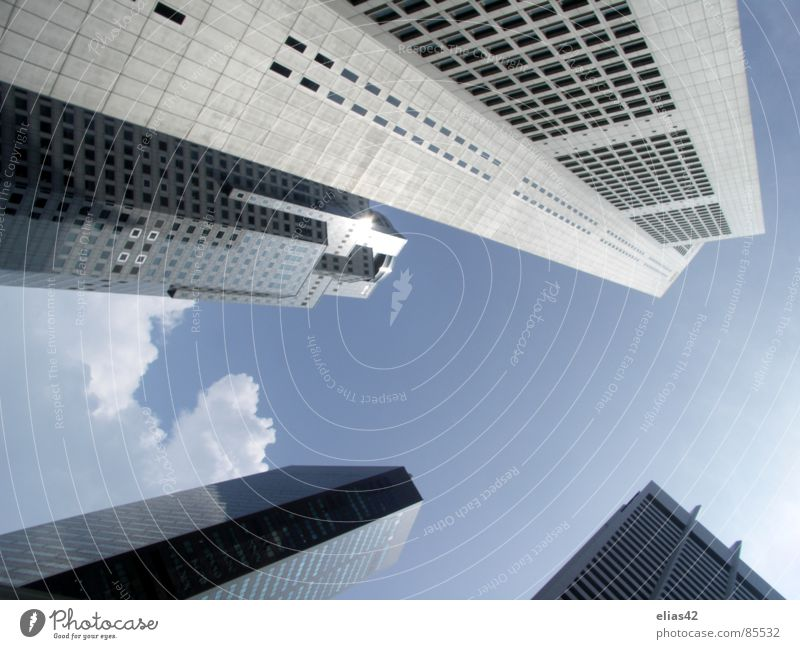 City House (Residential Structure) High-rise Modern Level Downtown Blue sky Singapore Business District