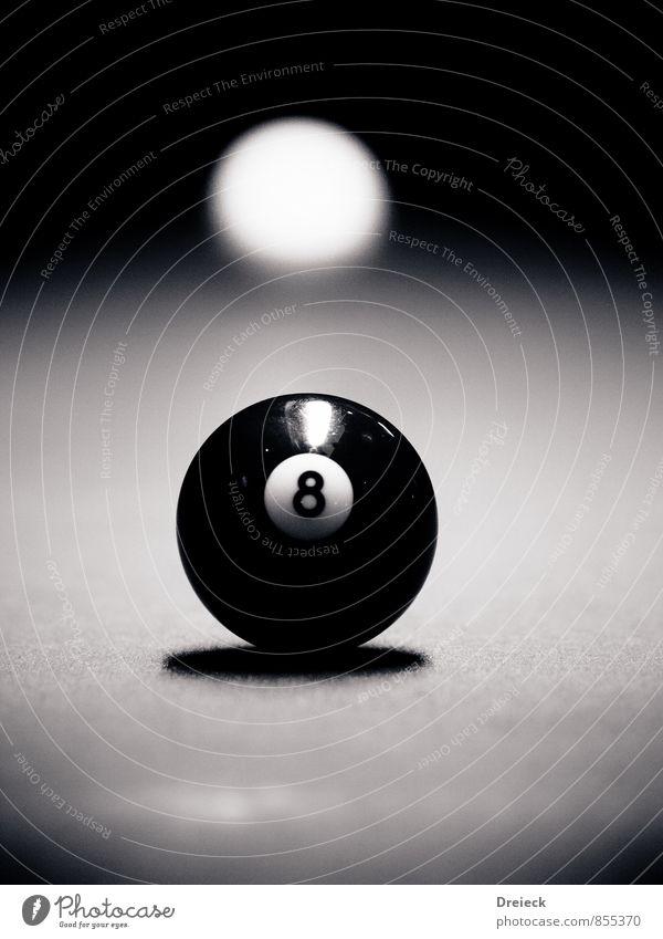 White Black Sports Playing Leisure and hobbies Authentic Digits and numbers Sphere 8 Original Pool (game) Queue Pool billard Billard bowle