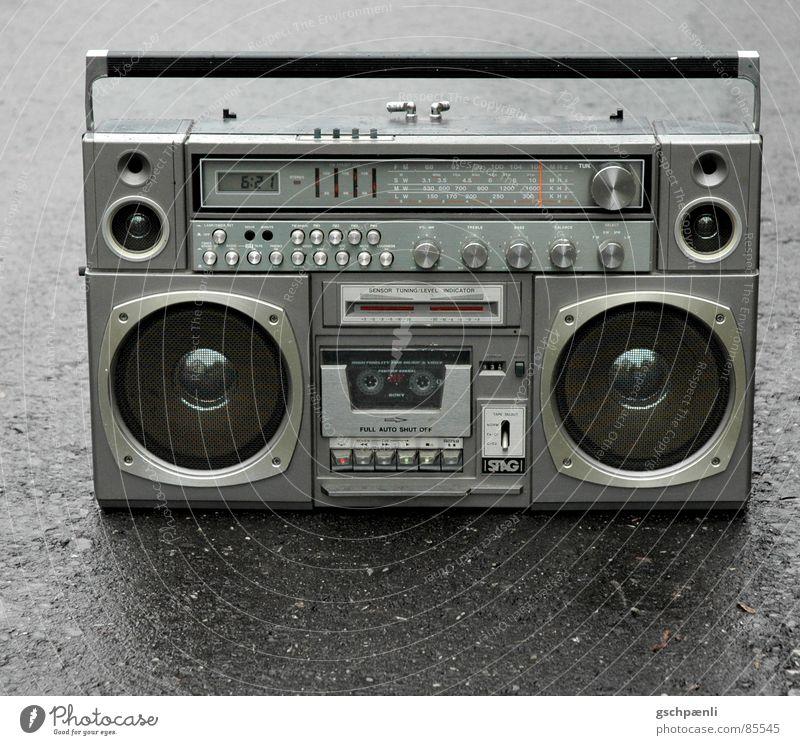 Black Street Style Music Gray Metal Glittering Wet Gloomy Logistics Stand Trashy Loudspeaker Mobility Damp Nostalgia
