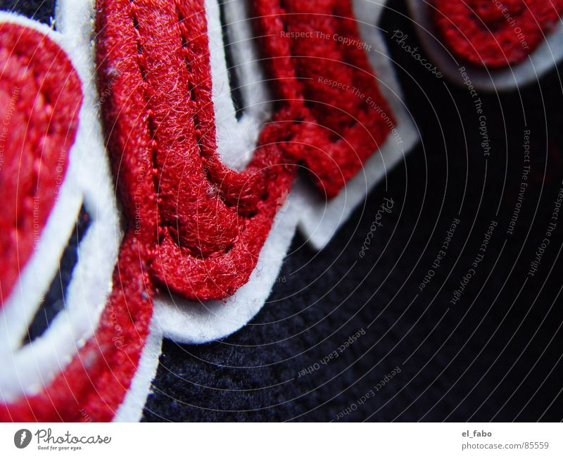 when... Red Black Cloth Stitching Sewing Felt Macro (Extreme close-up) Close-up embroidery (who believes...) etc etc