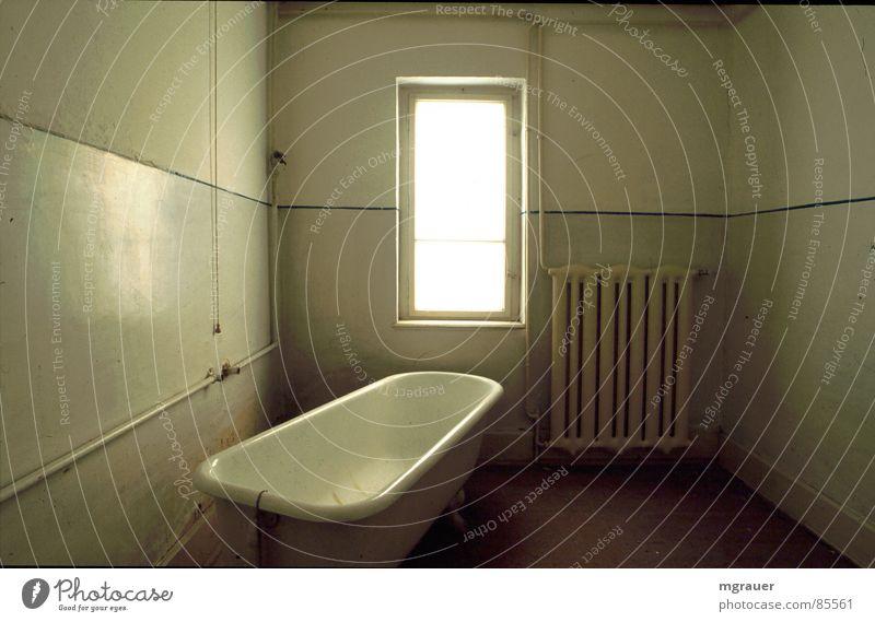 Window Bathroom Derelict Bathtub Across Colorless