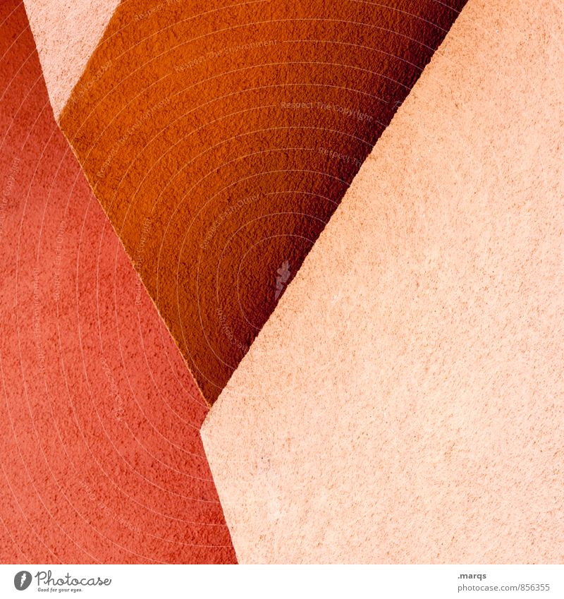 Red Wall (building) Architecture Style Wall (barrier) Background picture Line Arrangement Elegant Design Cool (slang) Illustration Hip & trendy Sharp-edged