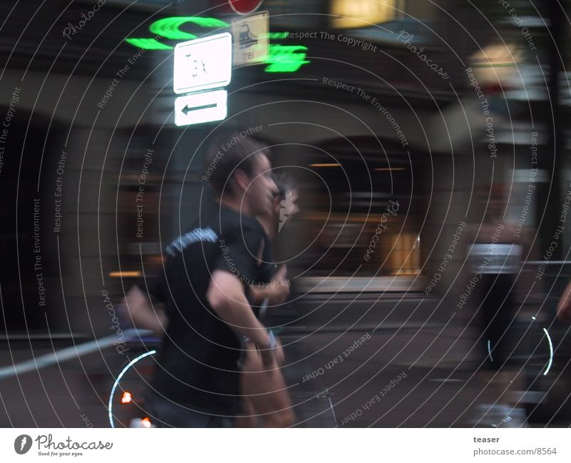 too fast to catch Night Blur Human being Runner Movement Light (Natural Phenomenon)