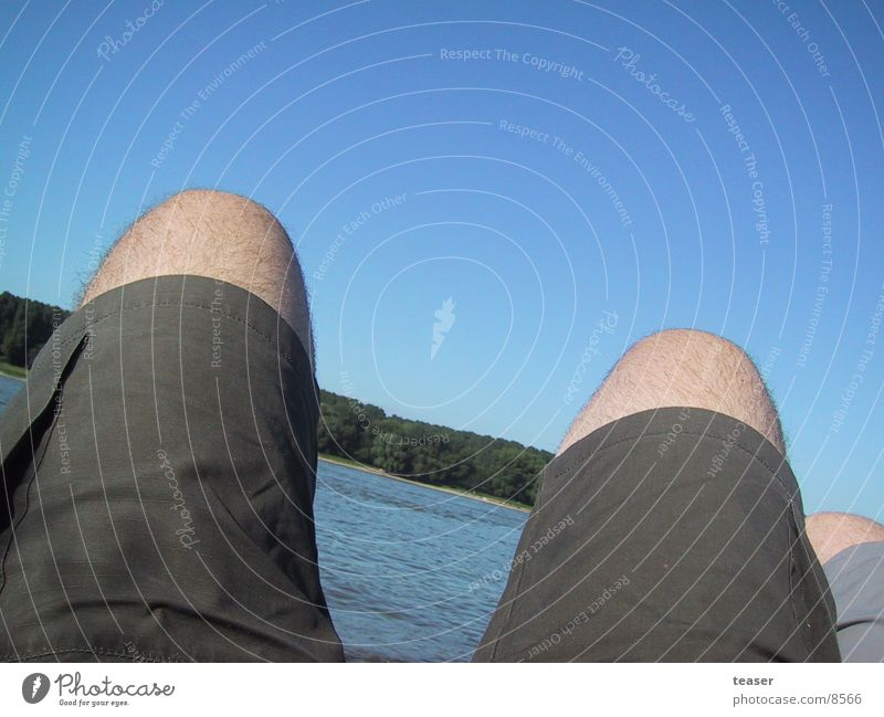 Leg on the Rhine Beach Shorts Human being Legs River Sky