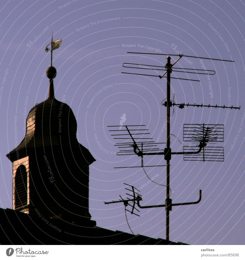 Vatican Radio Church spire Weathercock Antenna Information Television Terrestrial Understanding Media House of worship Telecommunications Religion and faith