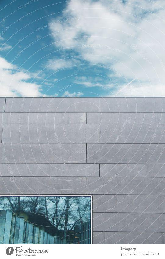 parallel worlds Window Clouds Reflection Facade Wall (barrier) Transparent Detail Sky Blue