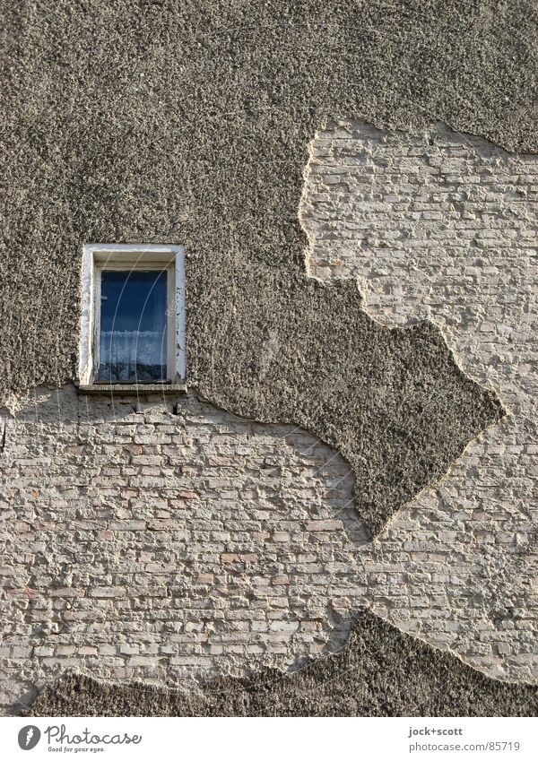 view of Italy Window Funny Dream Facade Broken Transience Change Decline Brick Wanderlust Whimsical Curtain Window pane Flexible Character