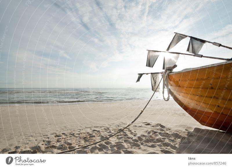Vacation & Travel Summer Ocean Clouds Beach Coast Freedom Sand Watercraft Horizon Lie Waves Tourism Beginning Island Trip