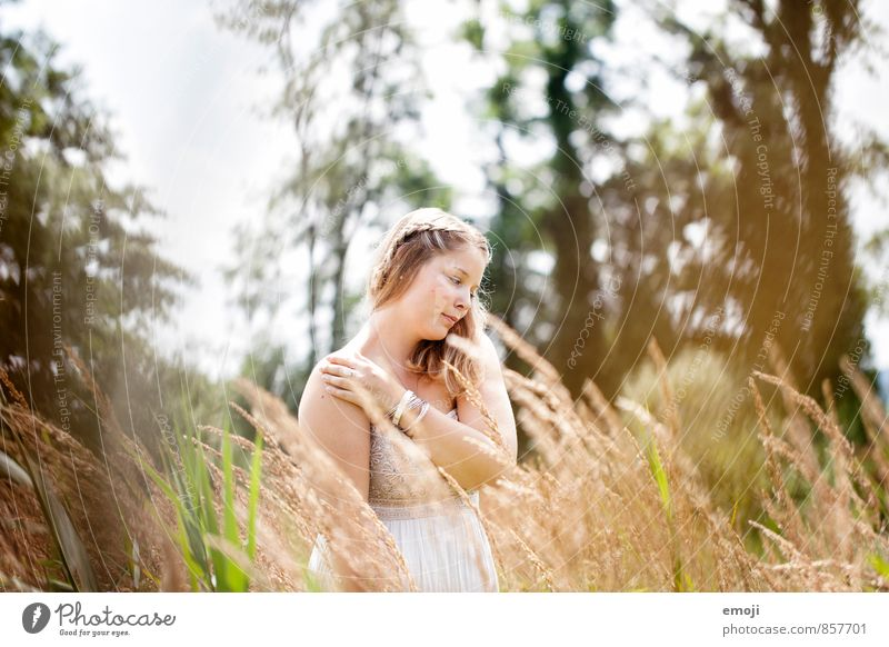 Feel Feminine Young woman Youth (Young adults) 1 Human being 18 - 30 years Adults Environment Nature Landscape Summer Beautiful weather Natural Colour photo