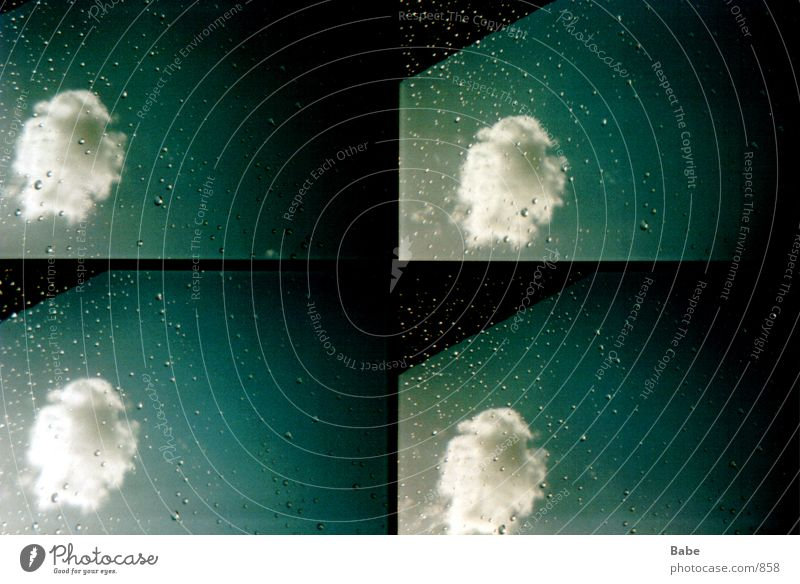 from window 1 Clouds Window Rain Lomography