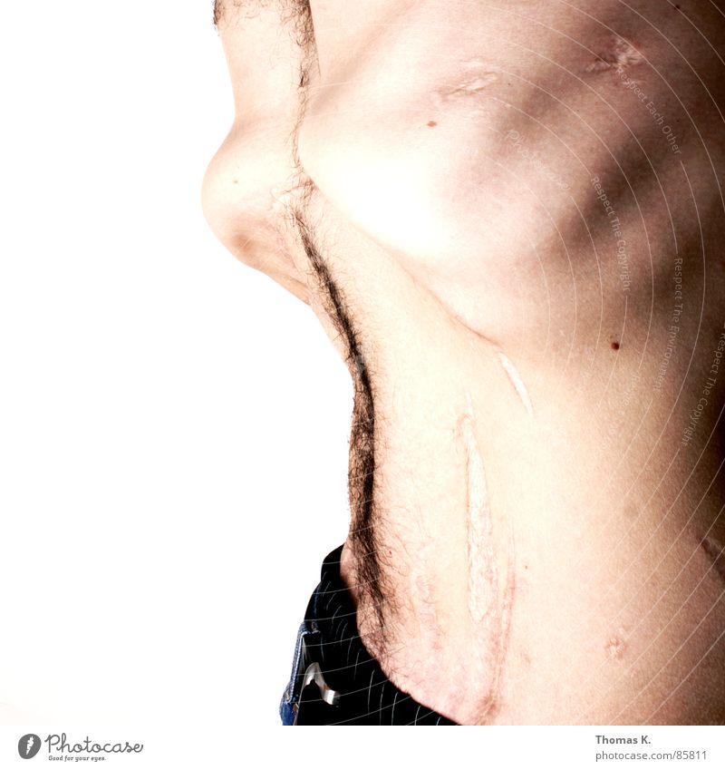 Man Profession Body Stomach Ribs Belt Stitching Charity Torso Scar Organ Surgeon Method Thorax Intervention