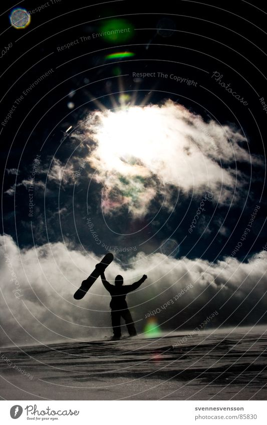 Human being Sky Nature Sun Clouds Winter Cold Mountain Snow Sports Playing Contentment Ice Success Adventure To hold on