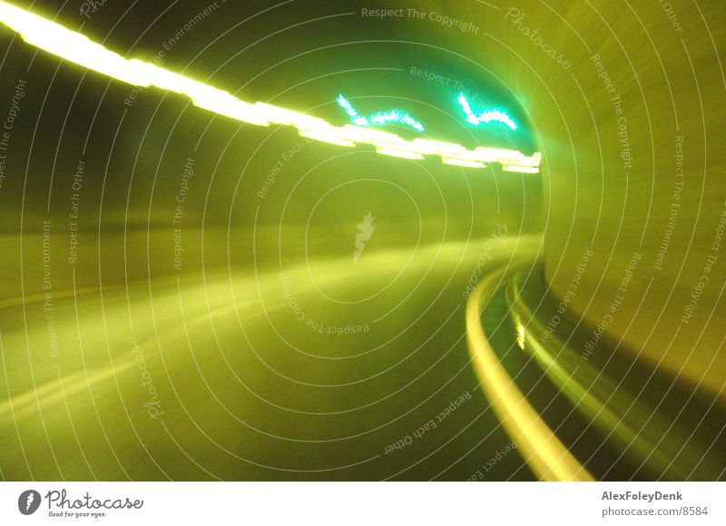 Bright Lighting Switzerland Tunnel Motoring Visual spectacle