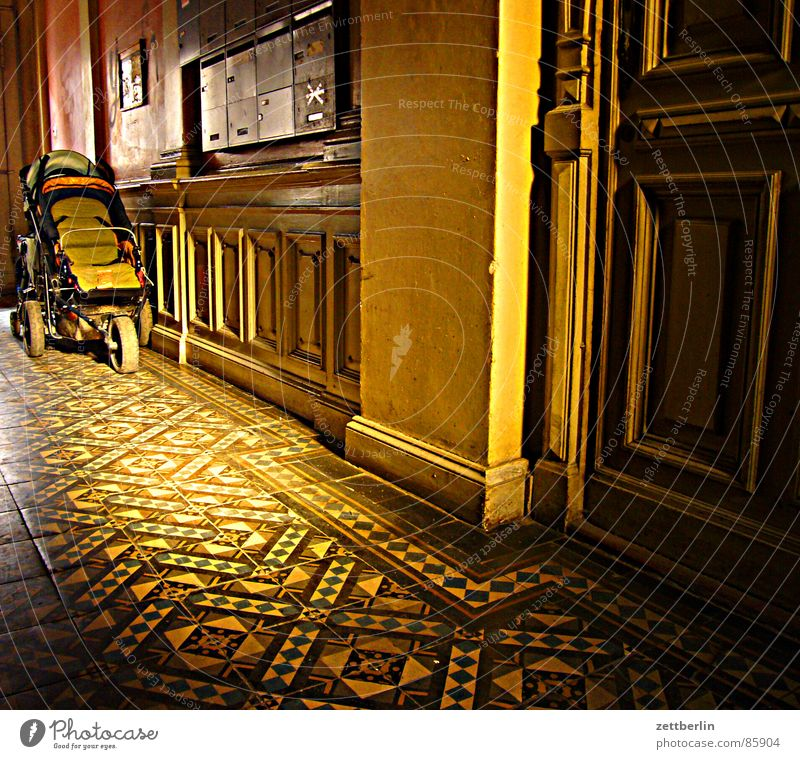 Berlin Door Infancy Flat (apartment) Living or residing Floor covering Mysterious Tile Entrance Staircase (Hallway) Kindergarten Corridor Puzzle Clear