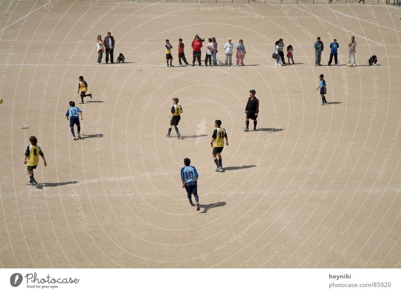 campo de fútbol Football pitch Playing Field Audience Soccer player Drop shadow Sports Summer Human being Calm