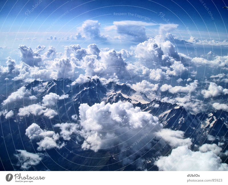 The Alps Picture 2 Austria Airplane Clouds Bird's-eye view Sky Mountain Snow