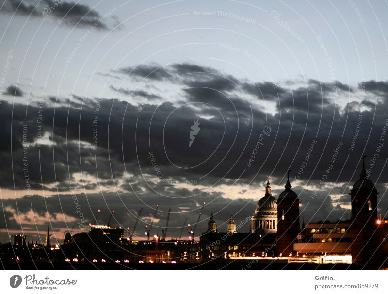 Night over London Capital city Downtown Skyline House (Residential Structure) Church Manmade structures Building Tourist Attraction Landmark