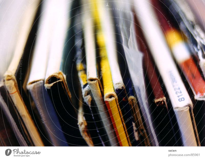 Arrangement Retro Lie Concert Row Disc jockey Sound Record