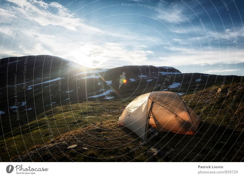 Midnight Sun III Contentment Relaxation Calm Meditation Tourism Trip Adventure Far-off places Freedom Expedition Camping Mountain Hiking Environment Nature