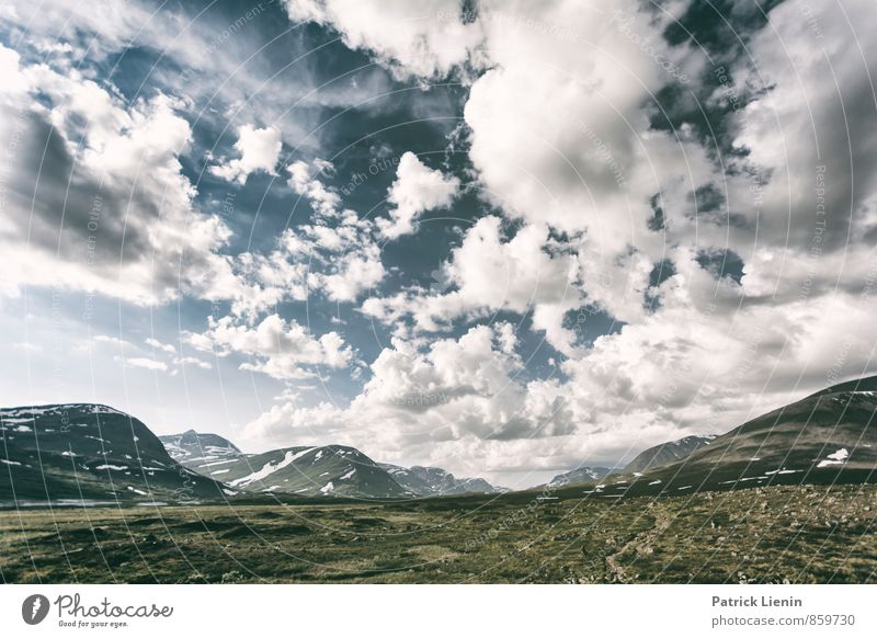 Sky Nature Vacation & Travel Summer Loneliness Landscape Clouds Far-off places Environment Mountain Freedom Moody Weather Air Wind Hiking