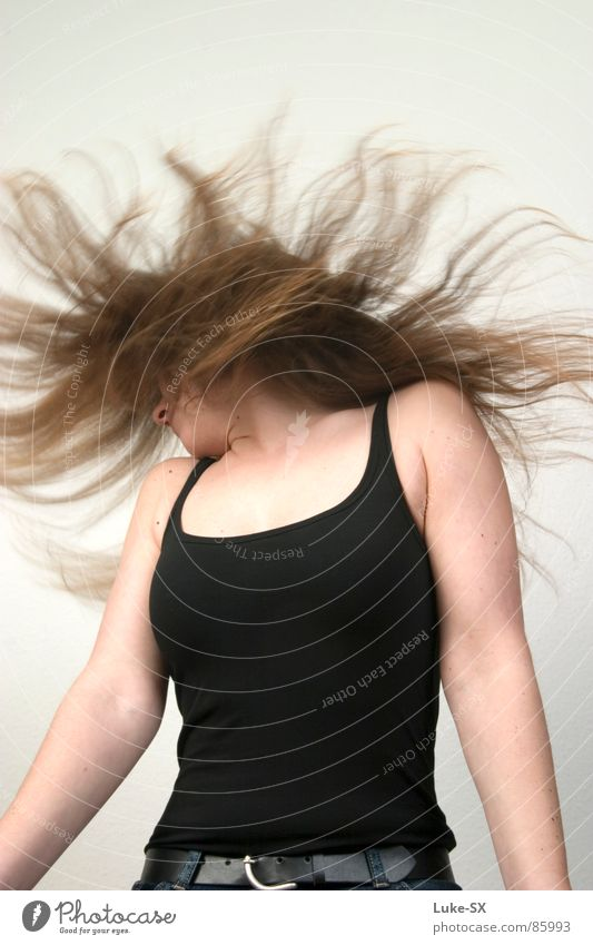 Woman Party Hair and hairstyles Anger Aggravation Belt Shake