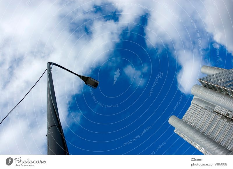 Sky House (Residential Structure) Clouds Style Building High-rise Modern Tower Lantern Direction Silver Left Indicate Right Futurism