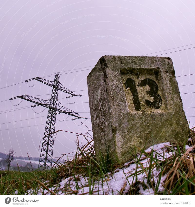 Winter Snow Playing Grass Signs and labeling Crazy Electricity Digits and numbers Grief Tilt Distress Disaster Bleak High voltage power line Lose Insolvency